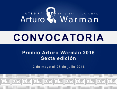 Convocatoria del Premio Arturo Warman 2016